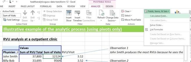 insert formula into pivot s